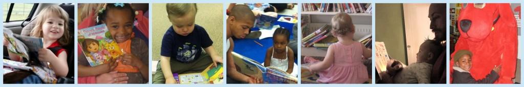 cute kids reading